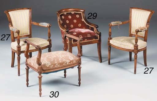 A French fruitwood bergere, Ea