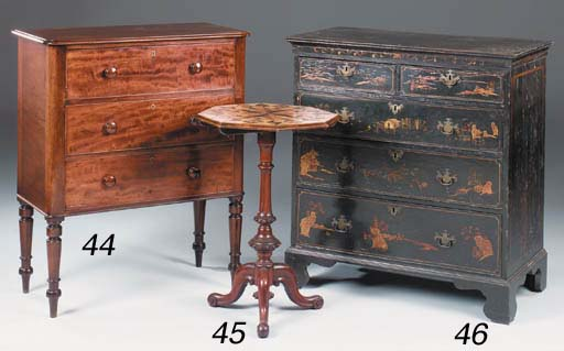 A Victorian walnut and specime
