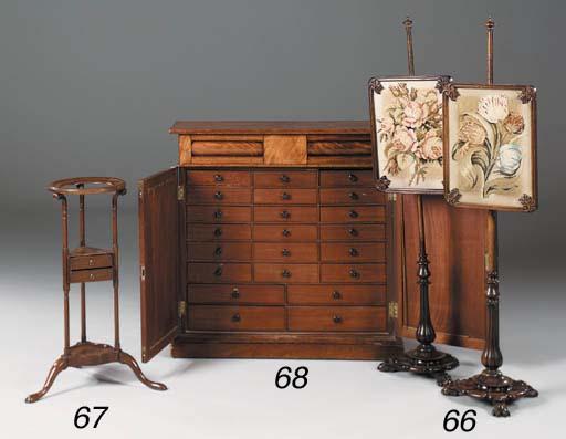 A mahogany wash stand, 19th ce