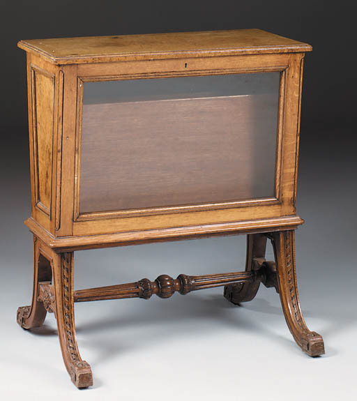 A late Victorian oak and burr