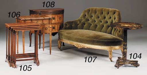 A small giltwood and upholster