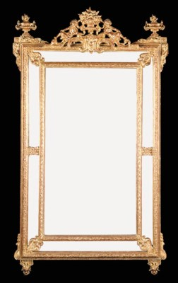 A burnished gilt composite mir