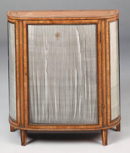 A satinwood display cabinet, 1