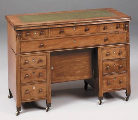 A mahogany architects desk, 19