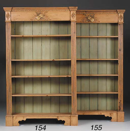 A large pine open bookcase, 20