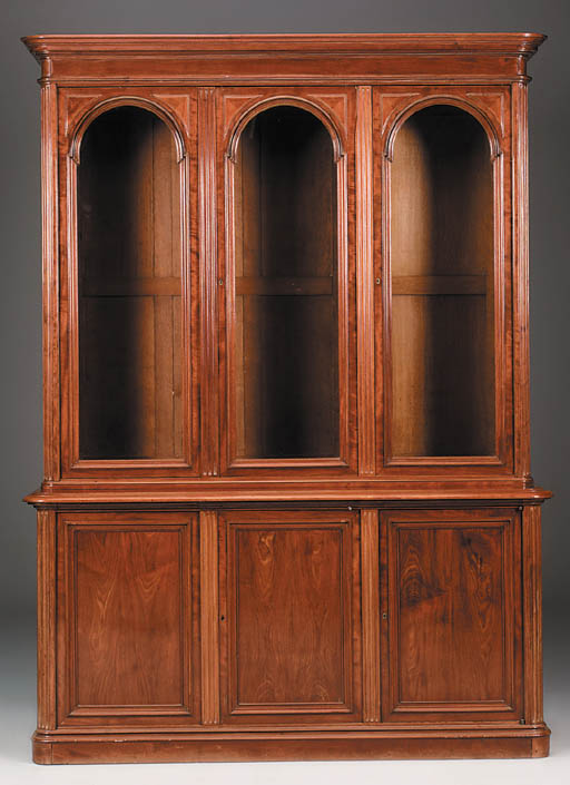 A French mahogany bookcase, la