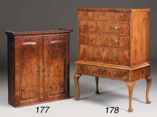 A walnut side cabinet, 18th ce
