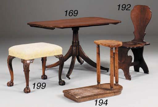 A mahogany stool, late 19th/ea