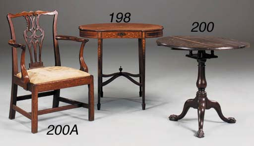 A mahogany tripod table, 18th