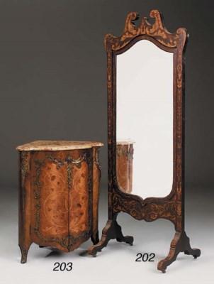 A Victorian mahogany and marqu