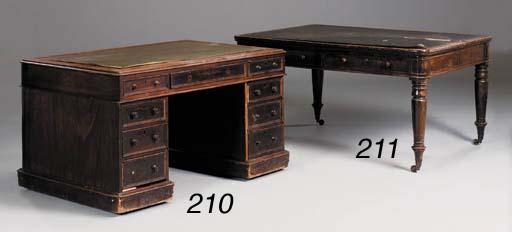 An early Victorian mahogany pa