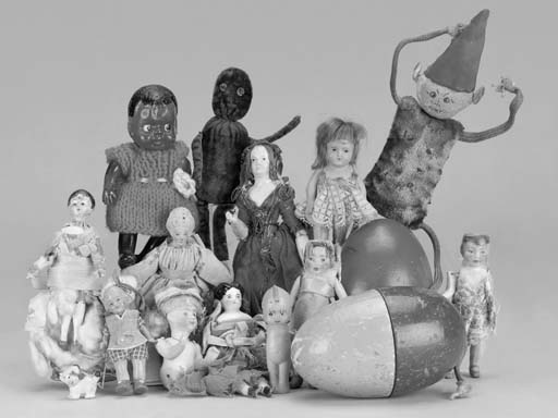 A composition-headed dolls' ho