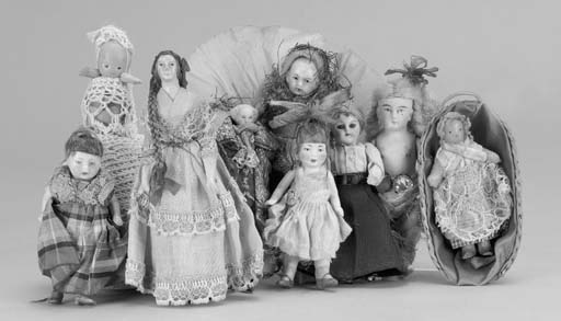 A composition-headed dolls' ho