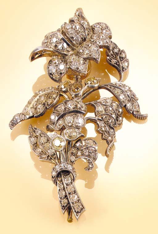 A 19th Century, diamond brooch