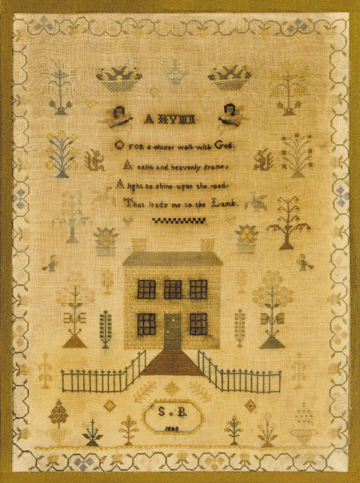 A sampler by S.B. 1840, worked