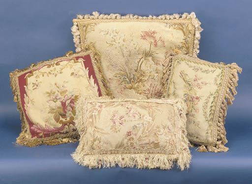 A pair of Beauvais tapestry-co