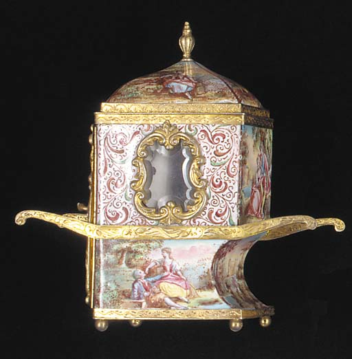 A silver-gilt mounted Viennese