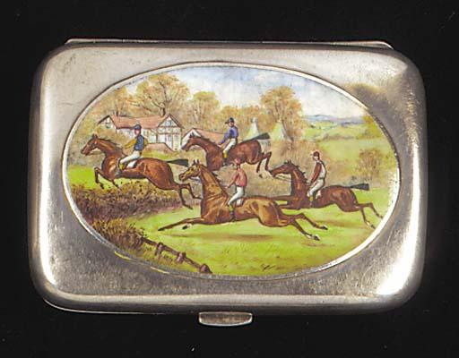 A Victorian cigarette case