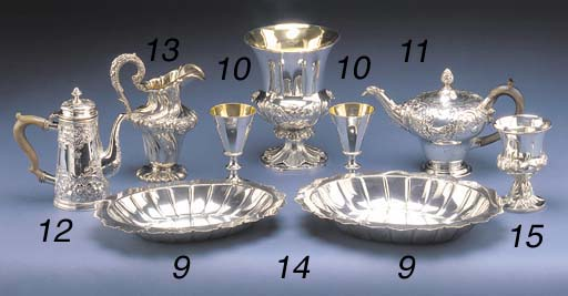 TWO VICTORIAN SILVER GRADUATED