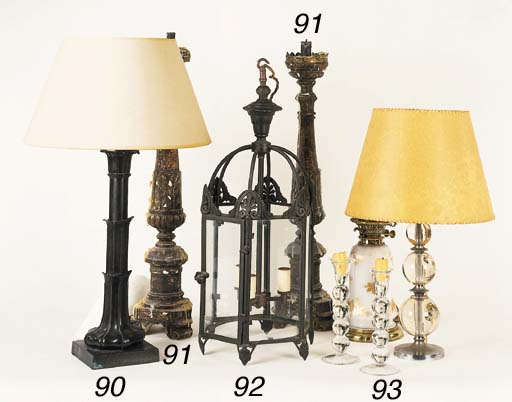 A William IV bronze table lamp