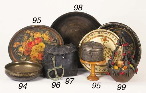 A polychrome pottery basket, 2
