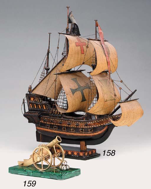 An English wood model of an El