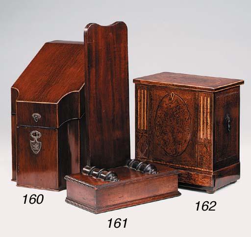 A Victorian mahogany tray stan