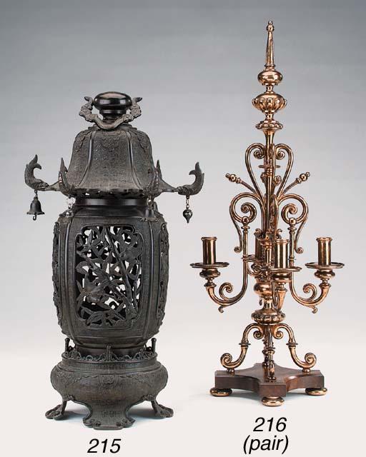A Chinese bronze lantern, late