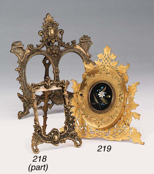 A late Victorian gilt bronze t