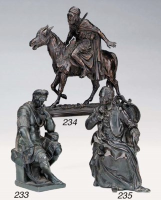 A French bronze figure of a ge