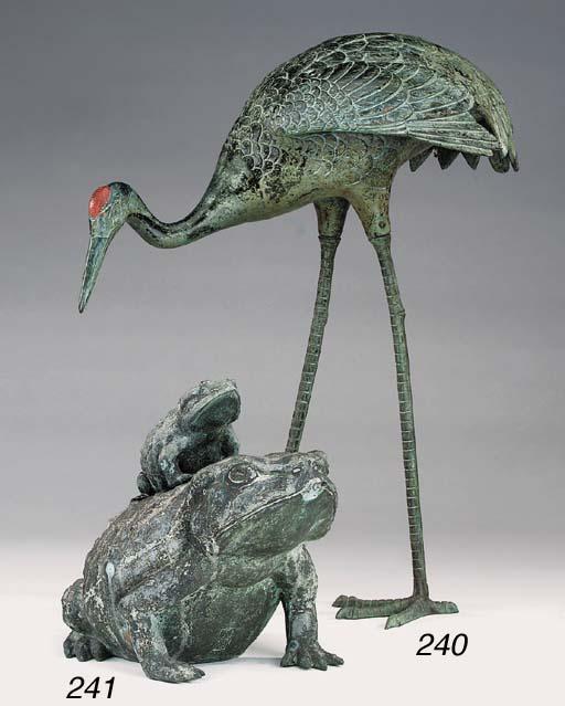 A bronze model of a crane, 20t