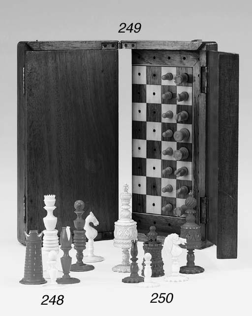 An English ivory chess set, 19