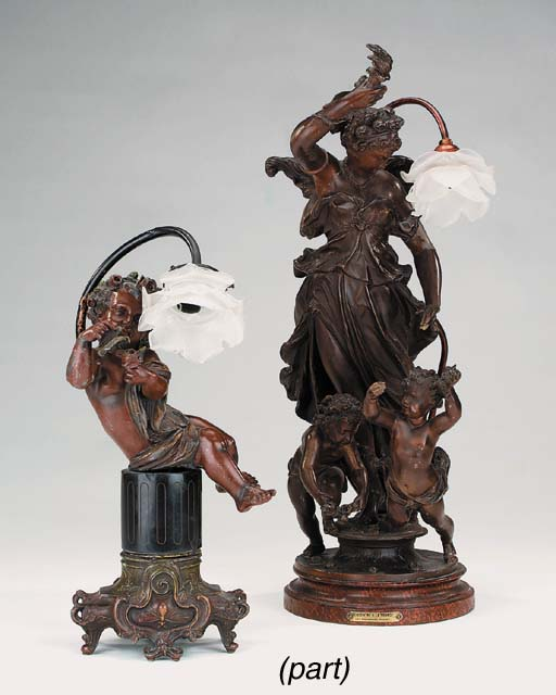 A French spelter figural group