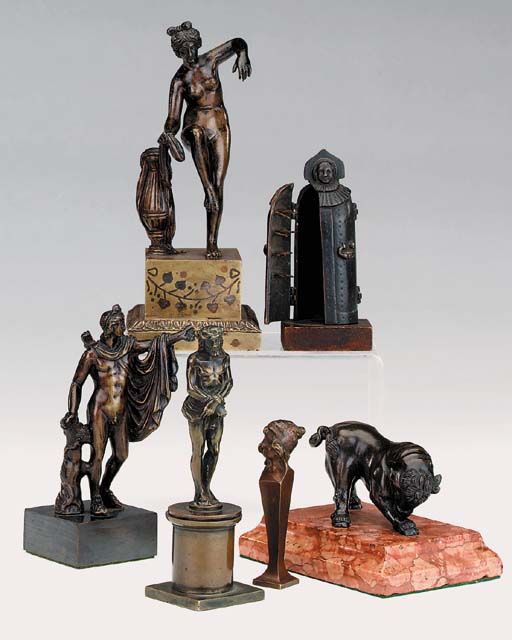 A collection of various bronze