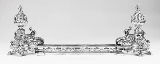 A Continental bronze fender, e