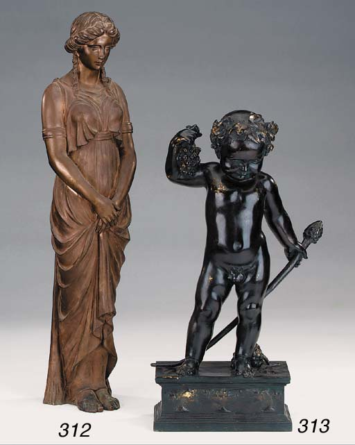 A French bronze of the infant