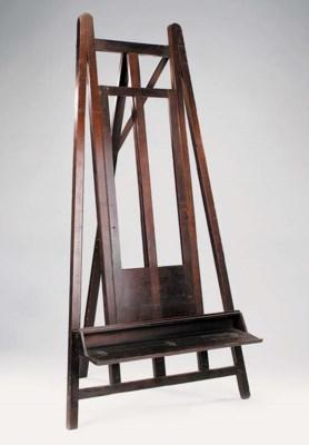 A Victorian mahogany A-frame s