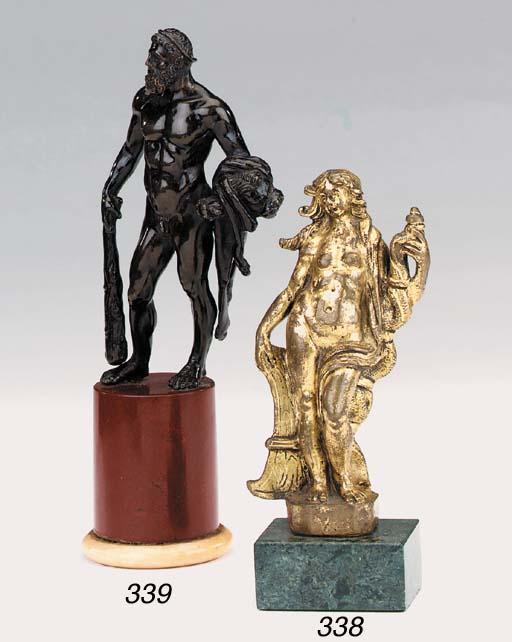 A bronze figure of Hercules, l