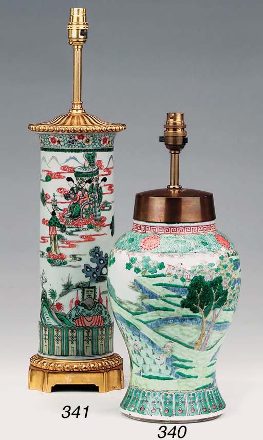 A Chinese porcelain vase, gilt
