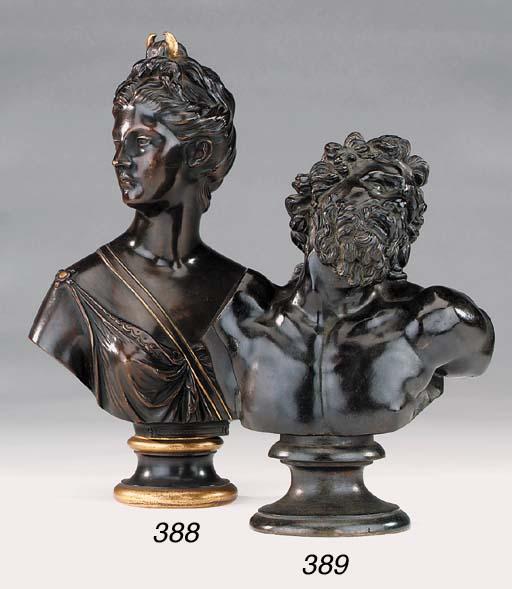 An Italian bronze bust of Laoc