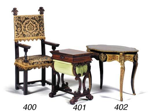 A William IV rosewood work tab