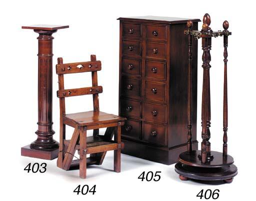 A mahogany upright chest, 20th