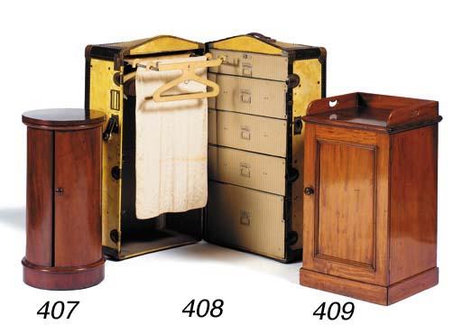 A Victorian mahogany bedside c