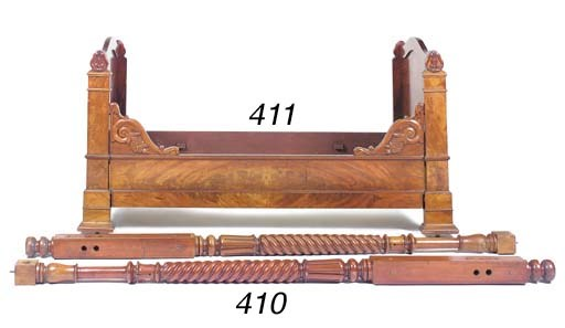 A French mahogany bed, 19th ce