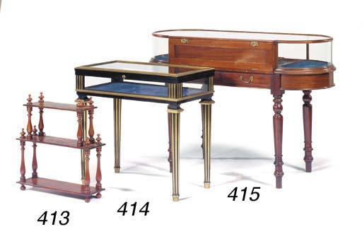 A Victorian mahogany display t
