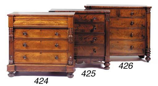 An early Victorian mahogany ch