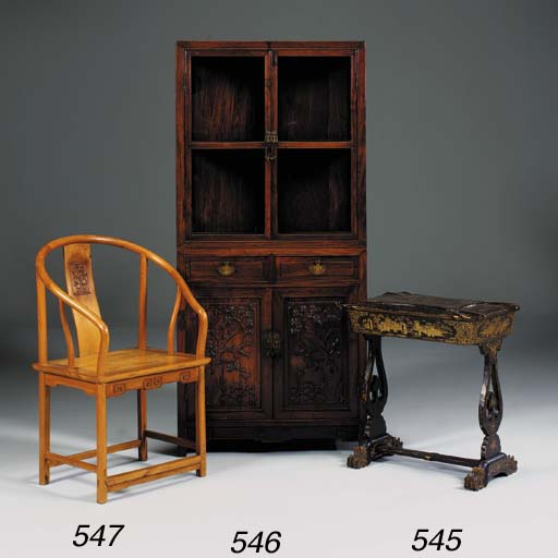 A Chinese rosewood cabinet, la
