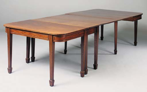 A mahogany D-end dining table,
