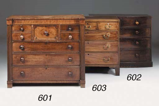 A Scottish mahogany chest of d