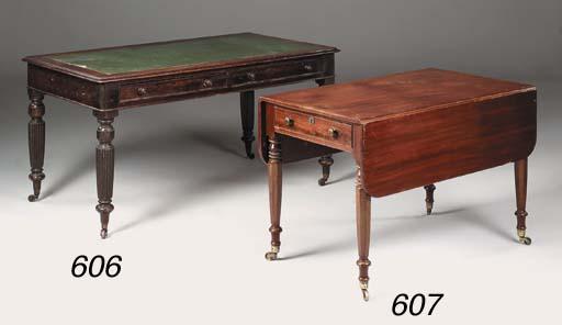 A late Victorian mahogany writ